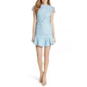 Alice + Olivia Rapunzel Lace Fit & Flare Dress 10